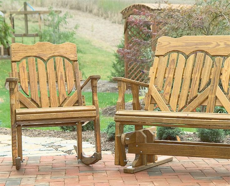 Amish Pine Wood High Back Heart Outdoor Rocker-So sweet !