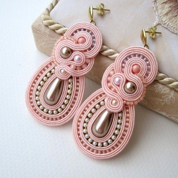 Best soutache bead embroidery images on pinterest