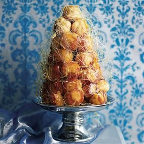 I made this once! It was a pain in the ars but so pretty. I had spun sugar burns all over my arms!!!!   croquebouche