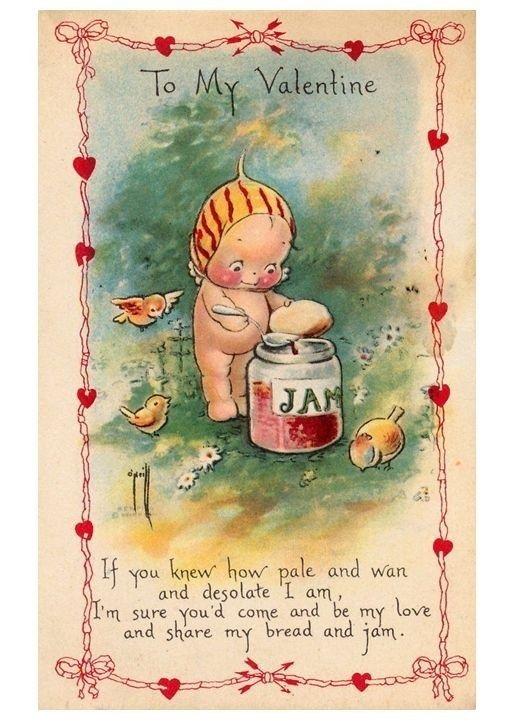 1918 Kewpie Valentine's Day postcard