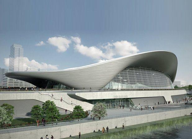 La piscine des Jeux olympiques de Londres 2012, a été imaginé par la célèbre architecte anglo-iraquienne Zaha Hadid.