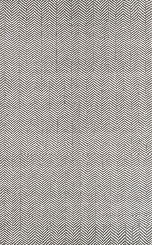Rugs USA Chalet Herringbone Cotton Flatwoven Grey Rug - 5'x8' - $259 (less 70% right now! $77.70)