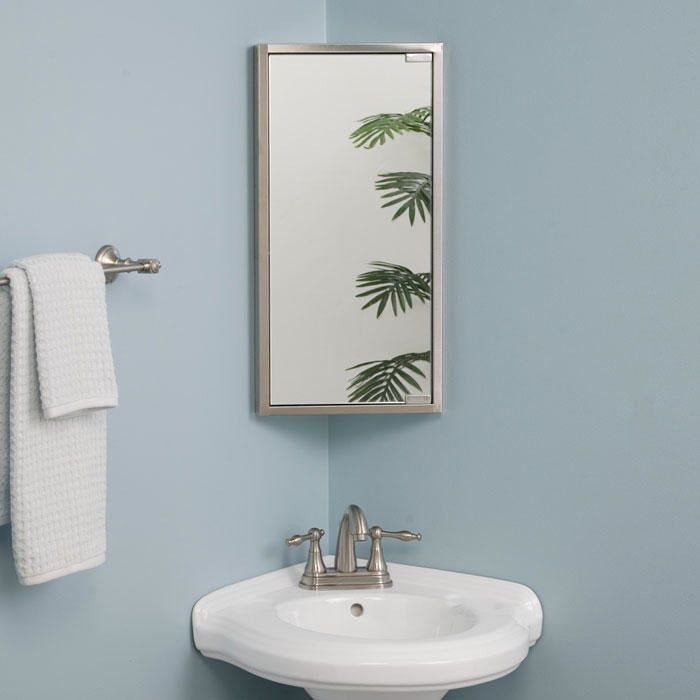 Kugler Stainless Steel Corner Medicine Cabinet Corner Medicine Cabinet Bathroom Corner Cabinet Mirror Wall Bathroom