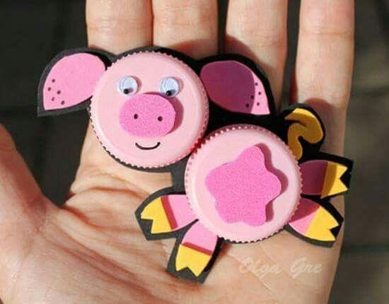 Cerdo con tapones