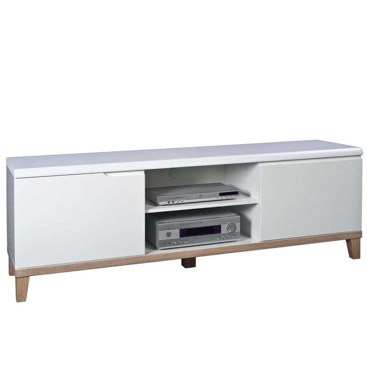 Unique TV Board in Wei cm Jetzt bestellen unter https moebel ladendirekt de wohnzimmer tv hifi moebel tv lowboards uid udbac ca c ada
