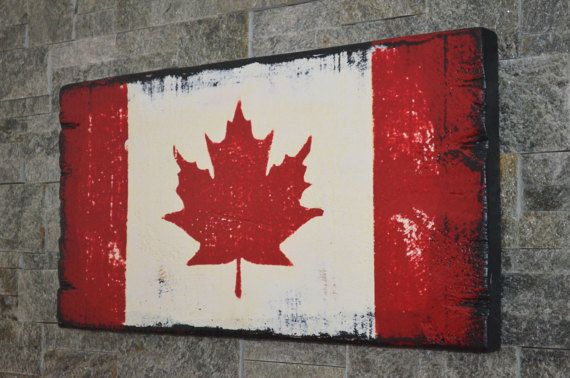 Distressed Canadian Flag Canada Flag by CanadaWoodworksShop