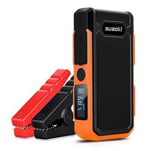 Oferta: 89.99€ Dto: -10%. Comprar Ofertas de Suaoki U10 - Jump Starter de 20000mAh, 800A Batería Arrancador de Coche (Batería Externa Recargable, LED Flashlight, Multifun barato. ¡Mira las ofertas!