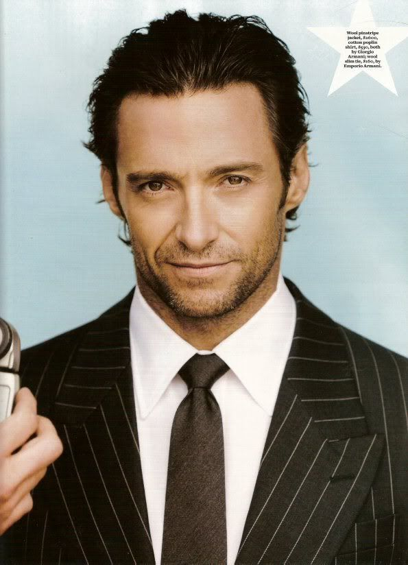 Hugh Jackman~ Humanitarian, family man, talented. Just seems like an all around nice guy.