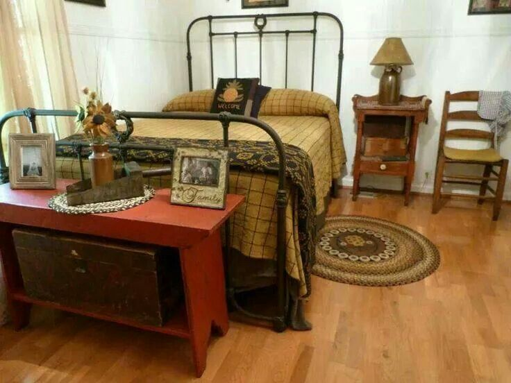 primitive country crafts for bedrooms
