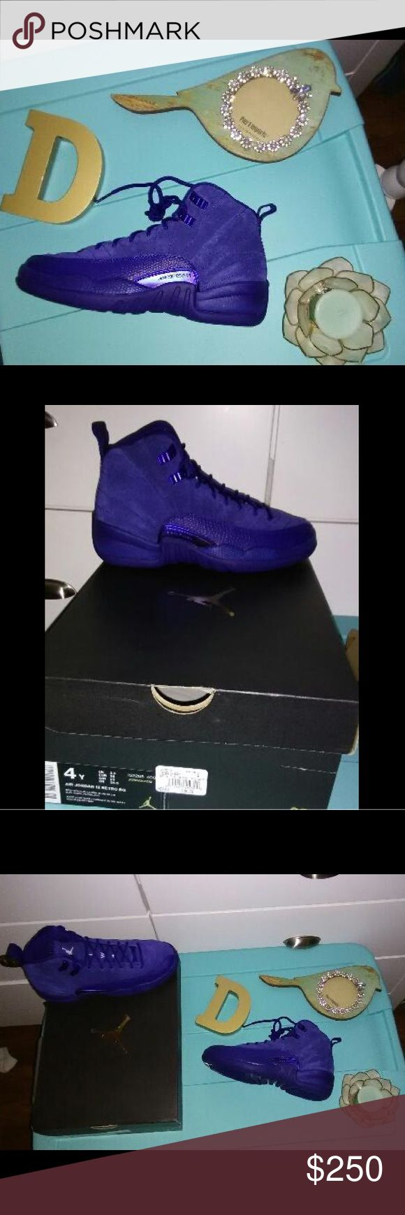 Jordan retro deep Royal Blue 12s Brand new pair of Jordan's retro 12s deep Royal Blues youth size 4 Jordan Shoes Sneakers