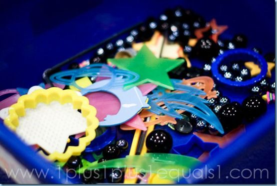 Outer Space Sensory Bin: Solar System, System Sensory, Sensory Bins, Preschool Sensory, Sensory Boxes, Imagination Bins, Spaces Theme, Spaces Bins, Outer Spaces