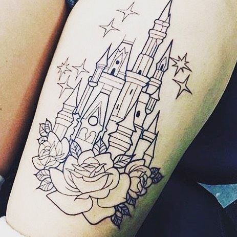 If I ever get a tattoo this would probably be it..  #disney #castle #disneytattoo