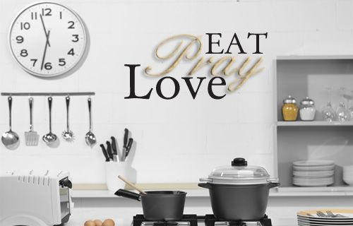 The writing's on the wall ... it's all about love. Say it with this vinyl sticker in your home!