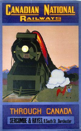 'Through Canada', Canadian National Railways poster, c 1930s.
