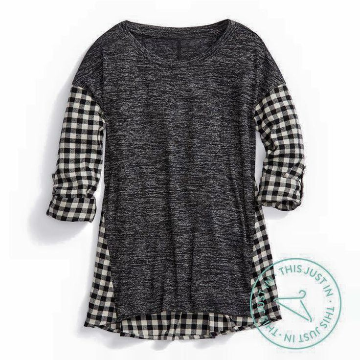 Stitch fix - This top is so cute, could be casual or dressy. Staccato Madrid Mixed Material Top  I would wear this all the time!