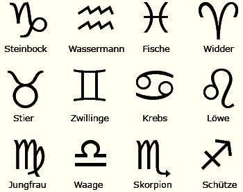 abendländische Sternzeichen - www.artreact.com