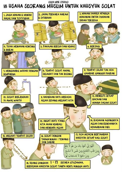 18 usaha seorang muslim untuk khusyuk solat.
