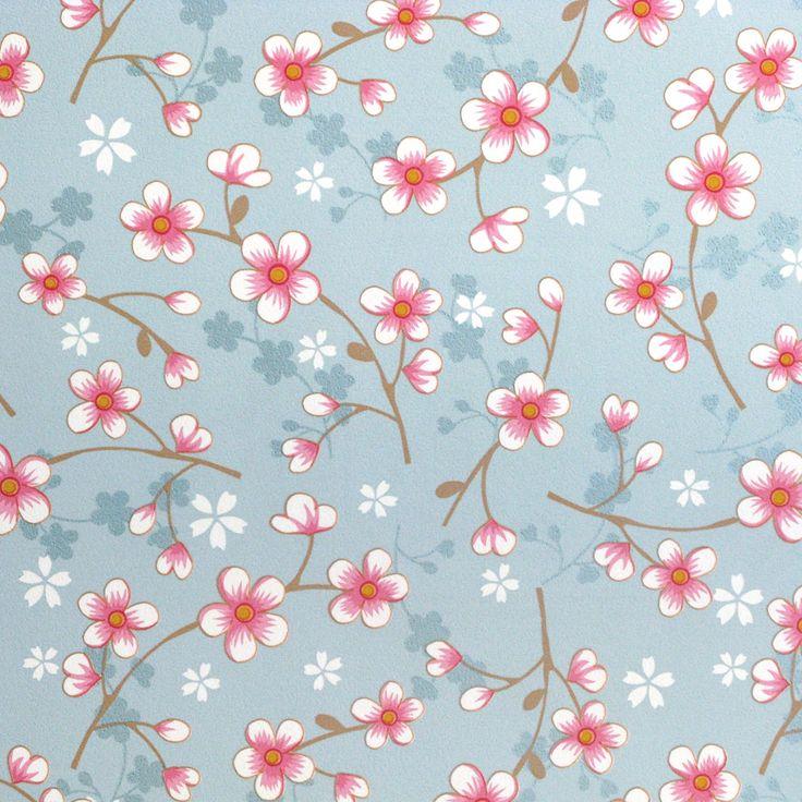 Pip Studio Behang Cherry Blossom Lichtblauw behangnr. 313021