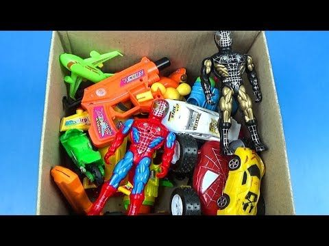 KIDS & TOYS SHOW : Box of Toys: Marvel Mashers, Cars, SpiderMan Actio...