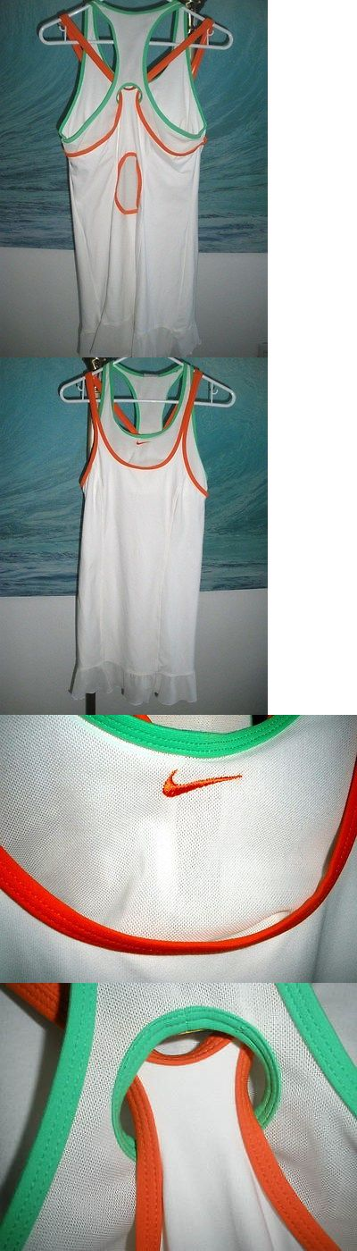 Skirts Skorts and Dresses 70901: Nwt Women S Nike Tennis Dress White Awesome Back Sz Medium 8-10 Mesh Ruffle -> BUY IT NOW ONLY: $74.99 on eBay!