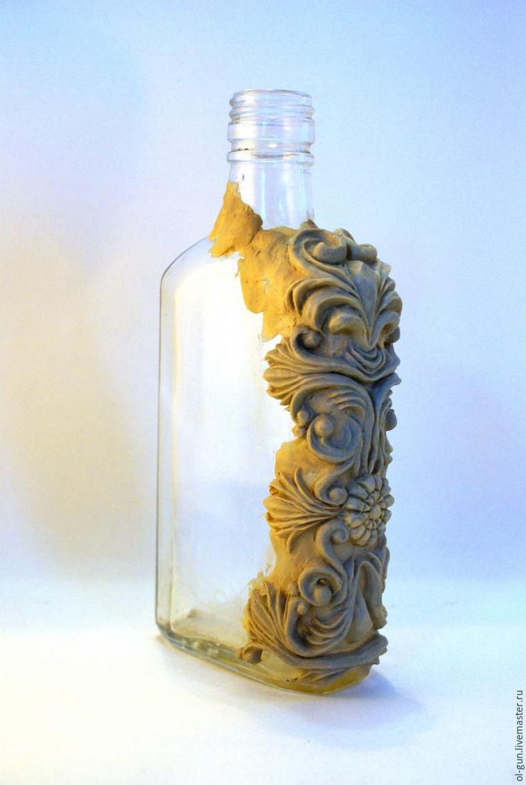 Мастер-класс: декор бутылки зеркальной мозаикой и эпоксидной смолой - Ярмарка Мастеров - ручная работа, handmade