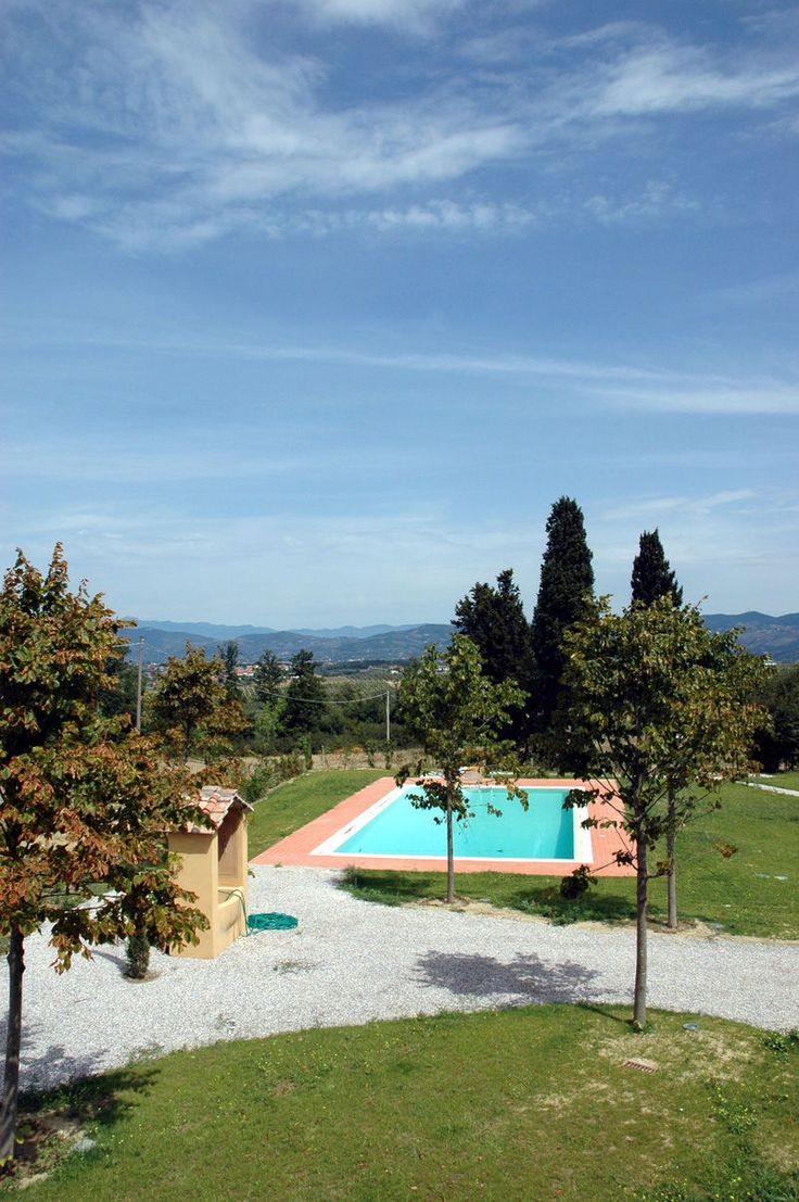 Borgo Di Vinci - Nice accommodation near Montecatini, a residential complex set in a 30-hectare estate deeply plunged amidst the green hills surrounding the small town of Cerreto Guidi, affording beautiful views over the surrounding landscape. #holiday #property #Italy