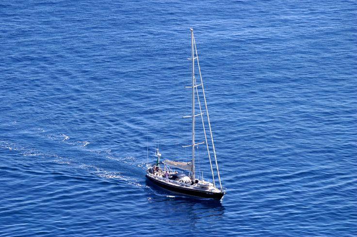 Yacht in Positano Bay, Amalfi Coast, Campania, Italy www.italyunfettered.com