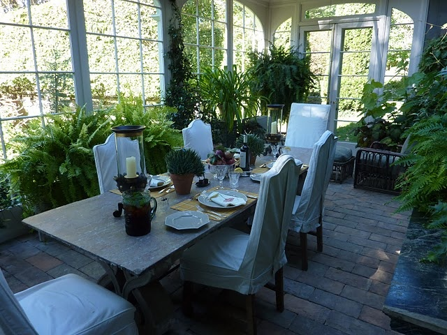 conservatoryInterior Decorating, Dining Room, Conservatory, Favorite Places, Bunny Williams, Dining Spaces, Bunnies Williams, Outdoor Spaces, Gardens Room
