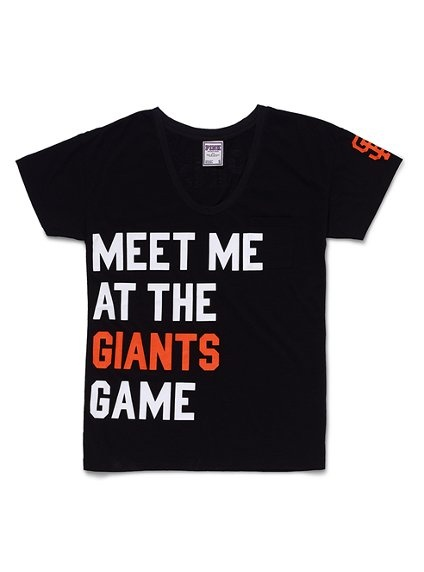 San Francisco Giants Boyfriend Tee - Victoria's Secret Pink® - Victoria's Secret