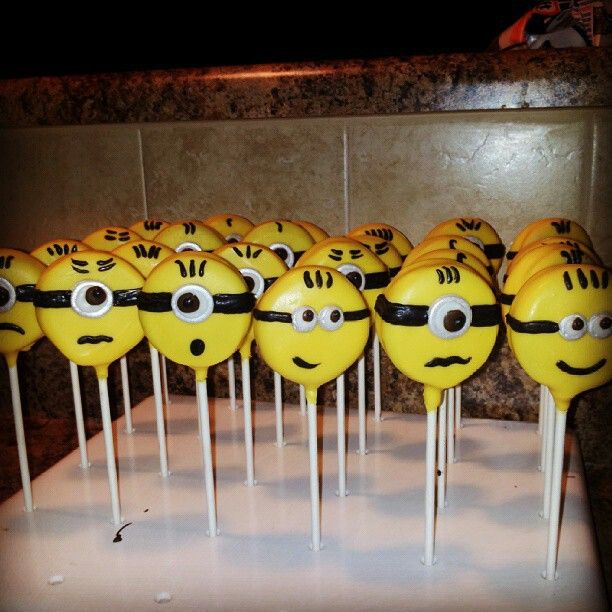 oreo cookie pops Minions