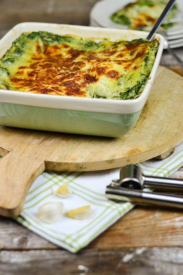 Spinat Lasagne mit Gorgonzola | Das Knusperstübchen