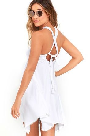 Element Eden Terry Ivory Dress at Lulus.com!