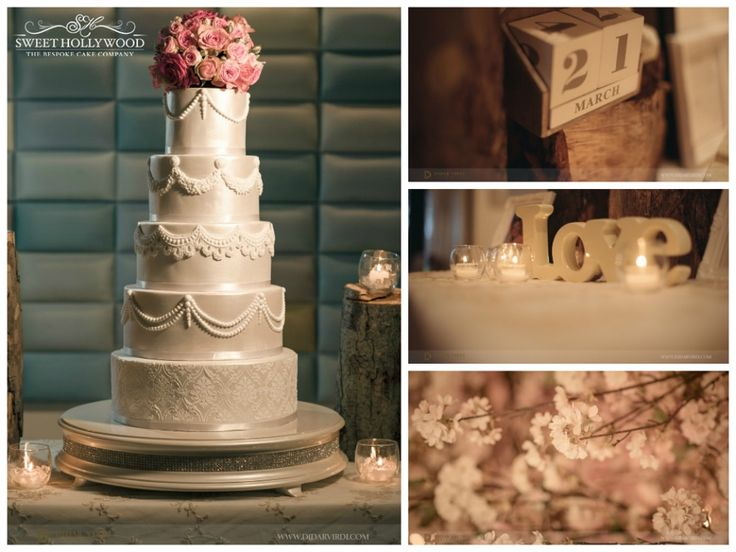 A Stunning Large Five Tier Wedding Cake That Featured Intricate Swags And Statement Damask