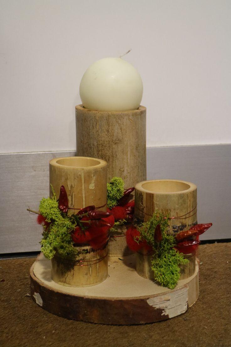 Centrotavola personalizzabile con bambù