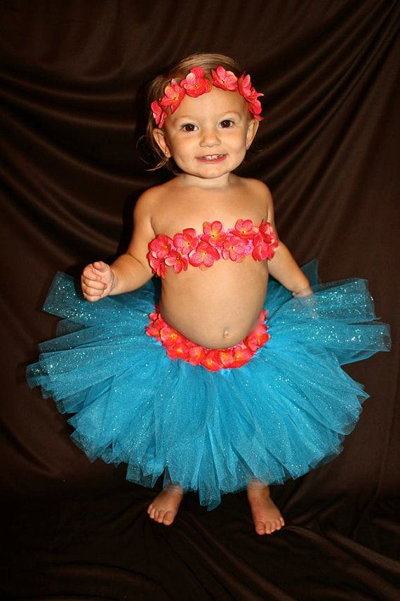 Prissy Hawaiin Luau Outfit  Fits 12mo  3T by ForYourLilPrincess, $39.99