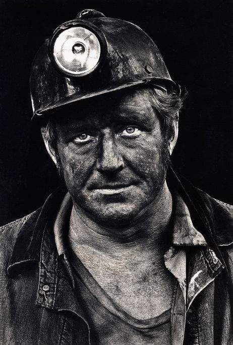 {true story} Coal miner Lee Hipshire in 1976, shortly after emerging from a mine in Logan County, W. Va. at the end of his shift. At age 36, he had worked 26 years underground. A few years later, Lee took early retirement because of pneumoconiosis, or black lung disease. He died at 57.