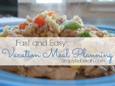 We simply couldn't afford to eat out for every meal when we went on vacation.  This was the fast and easy vacation meal plan that I came up with just days before leaving.