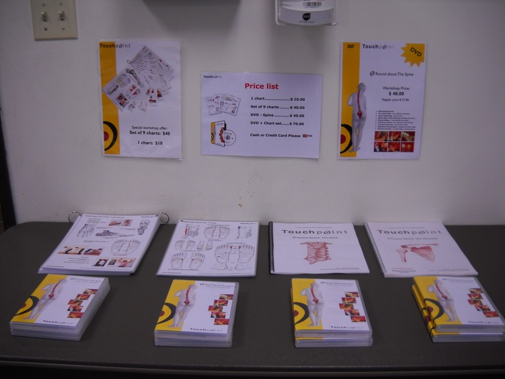 Lots of additional learning charts and DVDs were made available. www.AmericanAcademyofReflexology.com