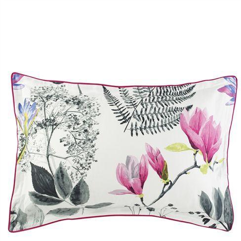 Mokuren Graphite Oxford Pillowcase