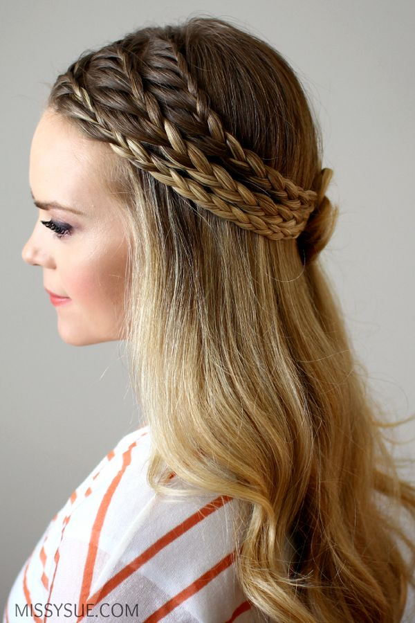 Best Braided Hairstyles Ideas to Inspire Women with Long and Medium Hair. #braidedhairstyles