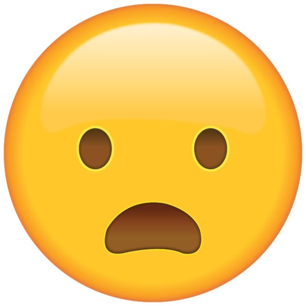 When you're too dismayed to speak, this frowning, shocked emoji will express how you feel.