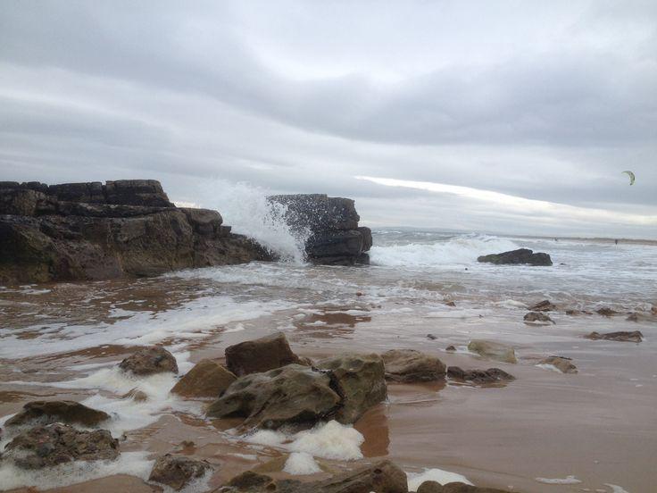 Windy day at Dornoch beach