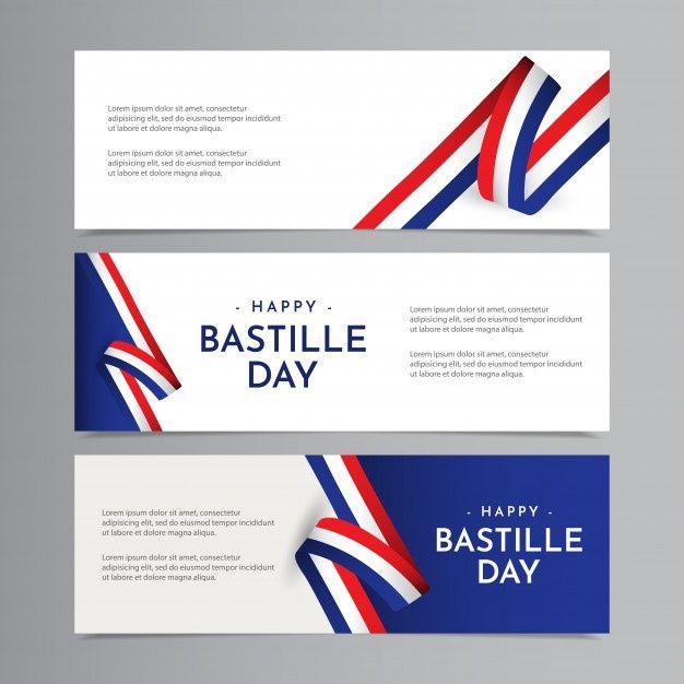 幸せなフランス革命記念日のお祝いテンプレートデザインイラスト in ...
