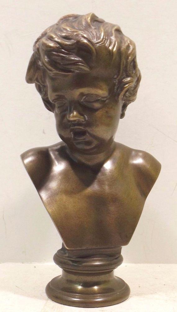 """schöne Knaben Bronze Büste/Skulptur """" F.Barbedienne . Fondeur . 1810 bis 1892 """""""