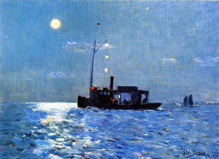 Frederick Childe Hassam, Isle of Shoals, Moonlight, 1890.