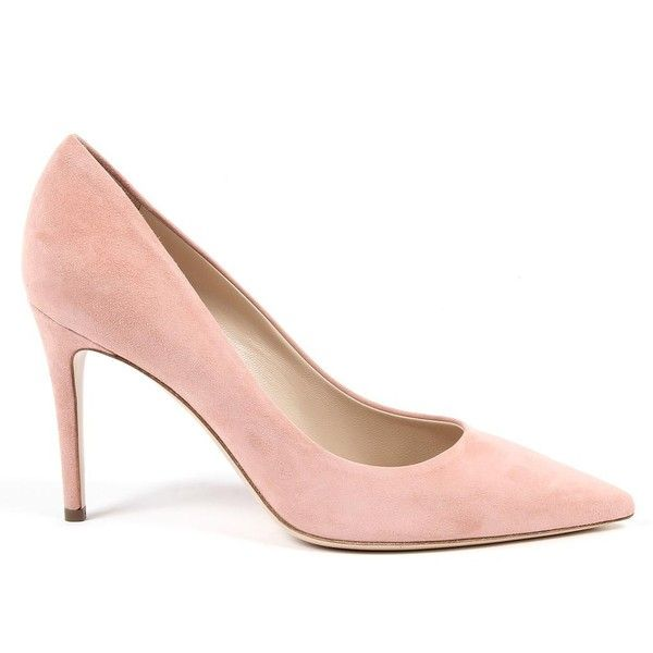 Andrew Charles By Andy Hilfiger Womens Pump Pink MEMPHIS ($219) ❤ liked on Polyvore featuring shoes, pumps, pink high heel pumps, high heel court shoes, pink shoes, pink suede shoes and suede shoes