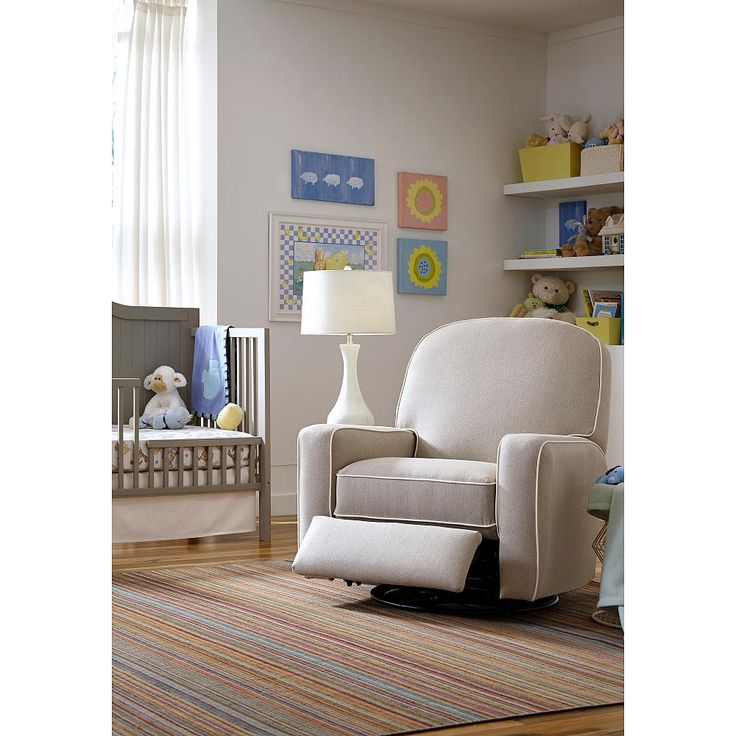 Blain Swivel Glider Recliner with Contrast Cording - Possible replacement chair for DwellStudio glider/recliner. Nursery ...  sc 1 st  Pinterest : best reclining glider for nursery - islam-shia.org
