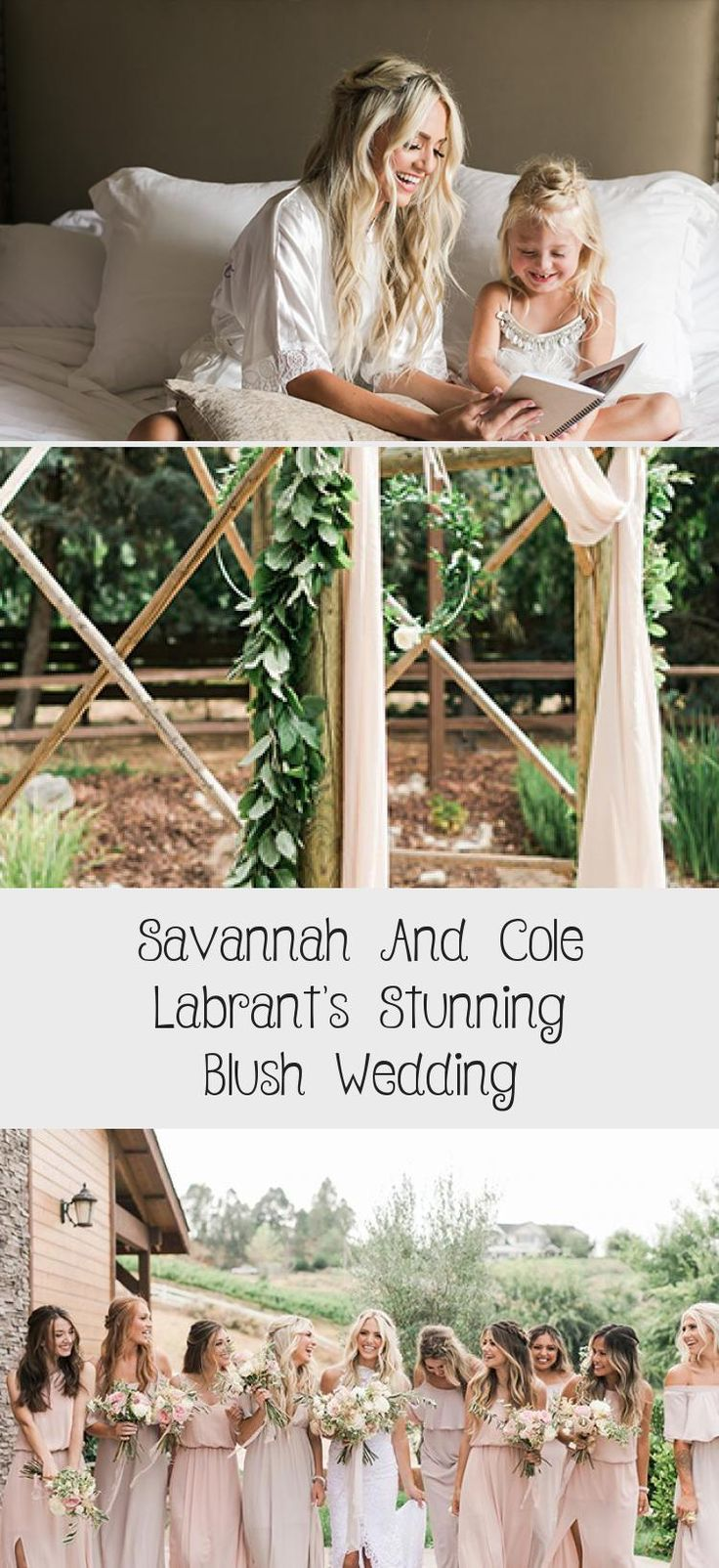 Savannah and Cole LaBrant's Stunning Blush Wedding - Inspired By This #LavenderBridesmaidDresses #BridesmaidDressesMidi #FloralBridesmaidDresses #BridesmaidDressesBoho #GreyBridesmaidDresses