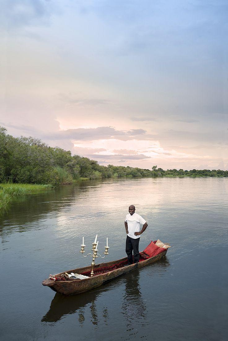 Chef Sungani on the river