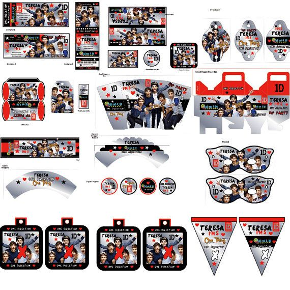 One Direction Party Printables